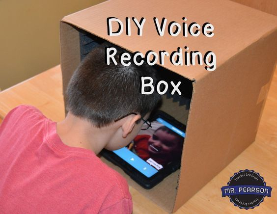 Do you do a lot of voice recording in your classroom? Are you tired of all of the background noise that the microphones pick up? Make a voice recording box to use in your classroom and the quality of your recordings will improve greatly!