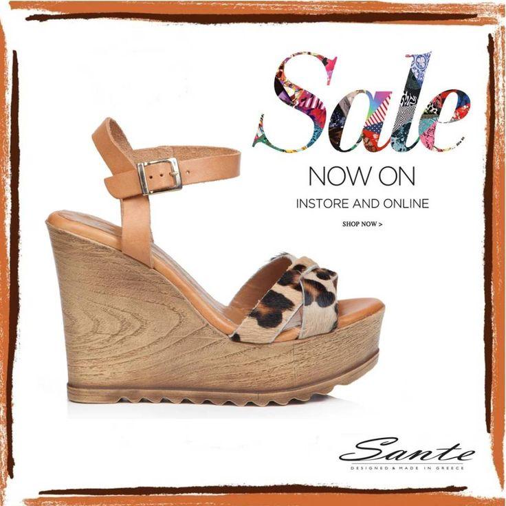SANTE Summer #Wedges on SALE #SanteMadeinGreece Shop online: www.santeshoes.com