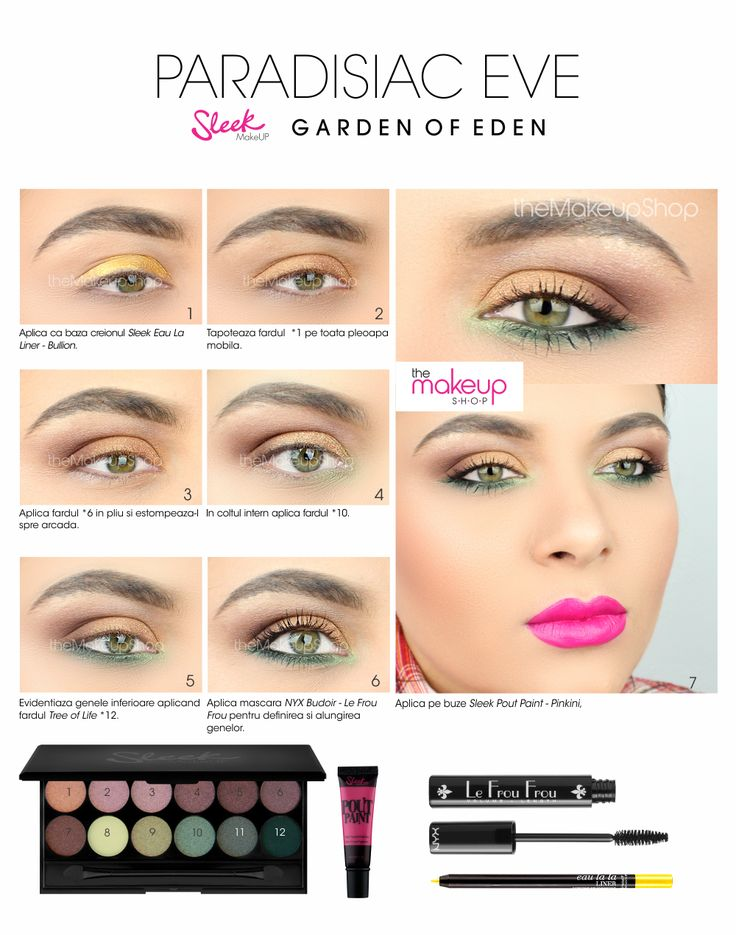 Paleta Farduri Sleek Garden Of Eden - Makeup Shop