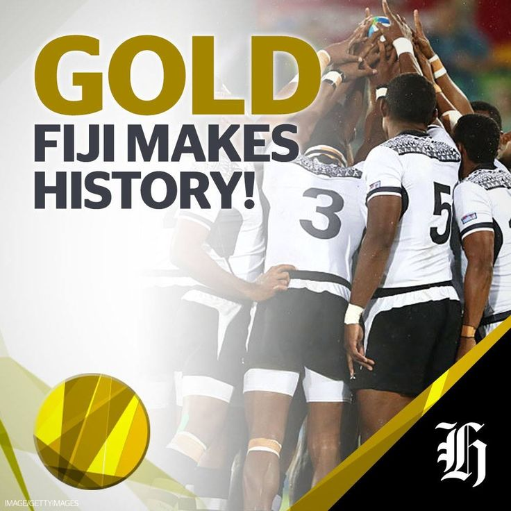 Fiji wins their first EVER gold medal, thrashing Great Britain in the Rugby 7's final