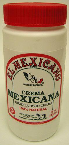 Crema Mexicana (Sour Cream) El Mexicano (Pack of 3) $22.95