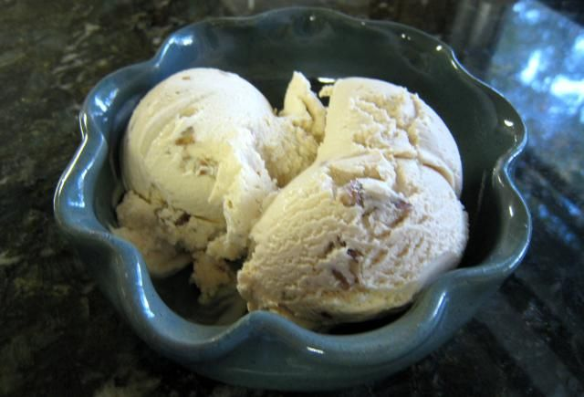 A Rich and Creamy Ice Cream With Brown Sugar and Pecans