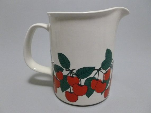Vintage Arabia Kirsikka Finland Pitcher Jug by Tracyloustreasures, $125.00