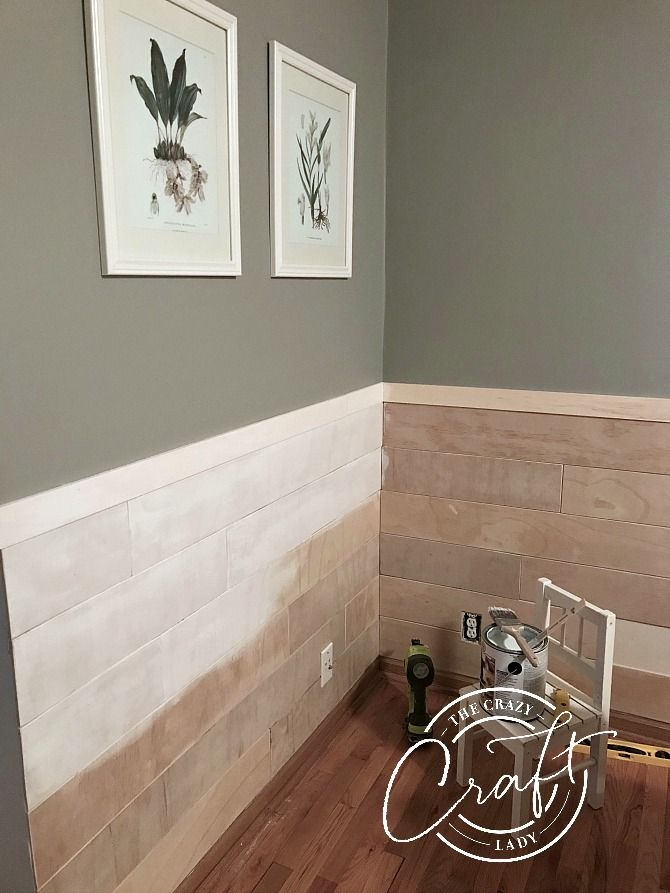 Half Wall Wood Paneling: My Faux Shiplap Chair Rail And Farmhouse Dining Room