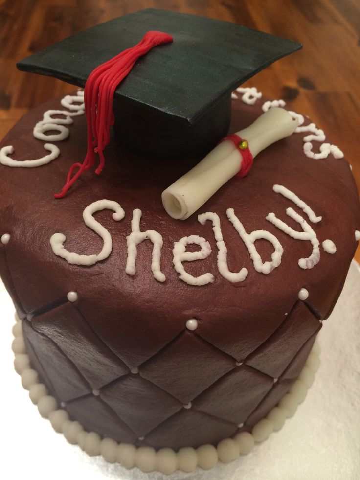TWU Graduation - Cake with Buttercream Frosting and ...