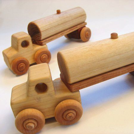 Handcrafted Wooden Tanker Truck- Two Pieces