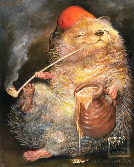 Happy Hedgehog (print) by StudioRayyan on Etsy https://www.etsy.com/listing/163145993/happy-hedgehog-print
