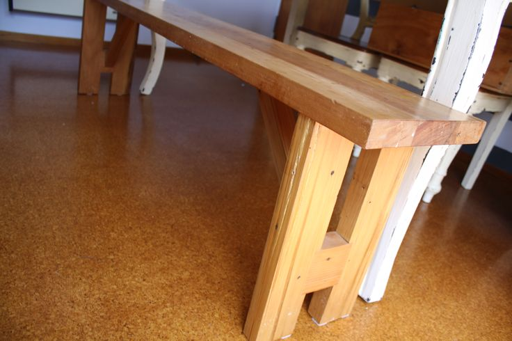 up-cycled Rimu bench designed by Ryan McQuerry