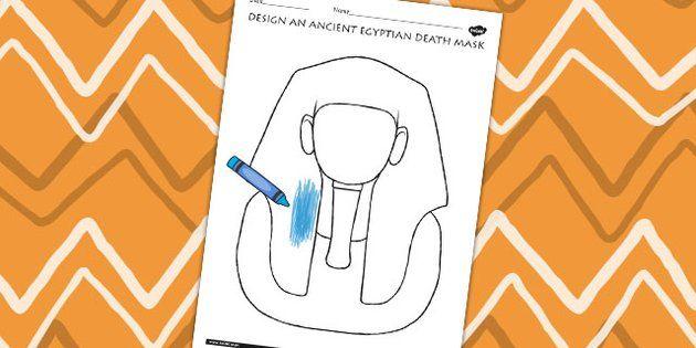Design An Ancient Egyptian Death Mask Activity - egypt, DT, KS2 - twinkl