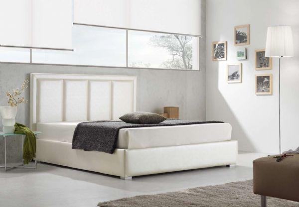 cama tapizada con canape abatible 19 - cabecero piel,polipiel o tela