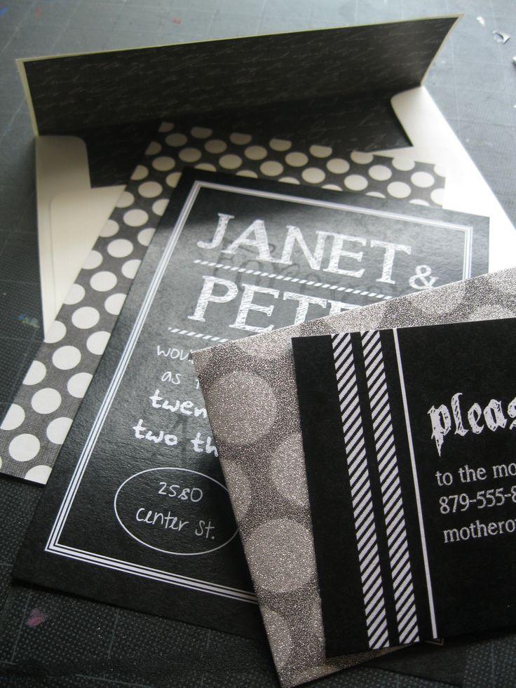 Black and white chalkboard wedding invitation 122