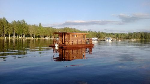 Sauna on Lohja Lake. Photo by Petra