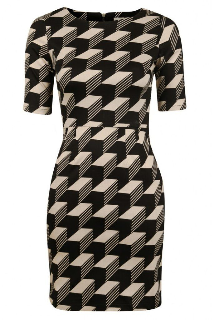 Graphic Monochrome Dress