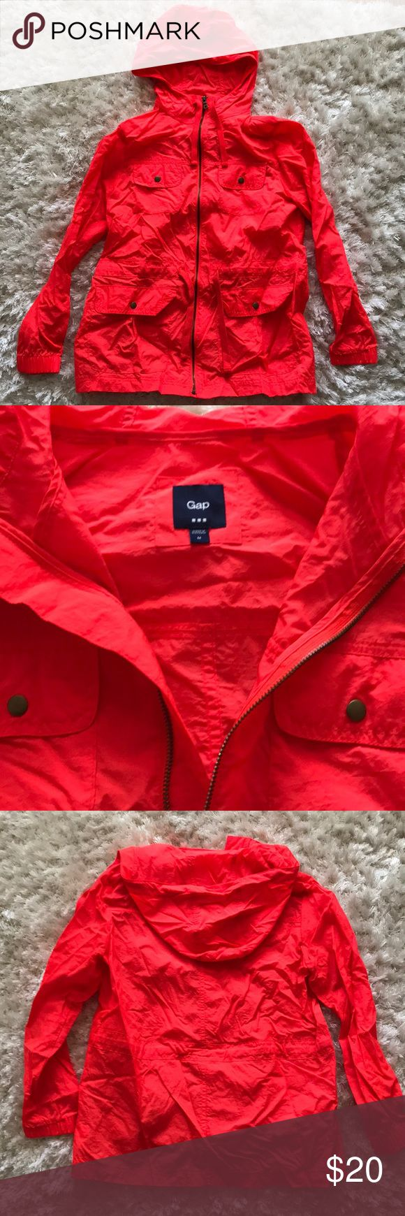 Orange Gap Rain Jacket Size M This is a great layering piece in the spring. Wonderful for Raton and wind. GAP Jackets & Coats Utility Jackets
