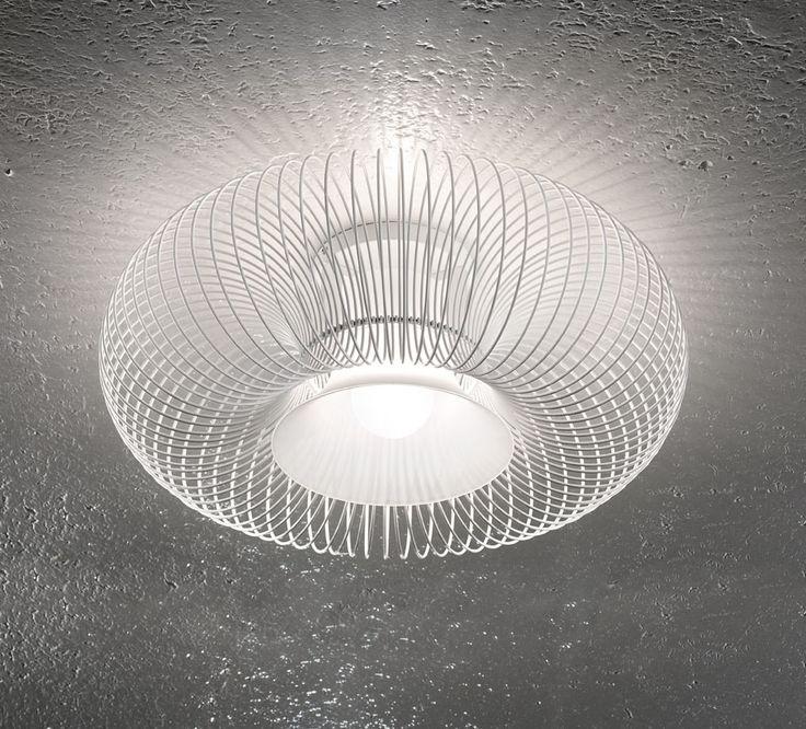 Spring PL 55 ceiling lamp in white by Morosini.