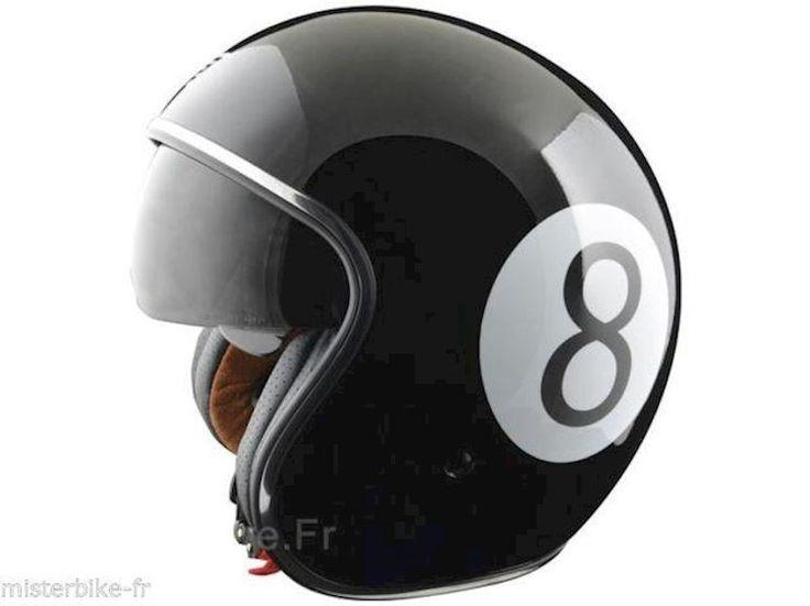 Casque moto Jet Marque ORIGINE Sprint 8 Baller  Noir Taille  1