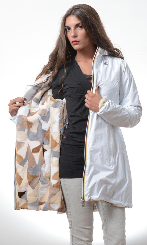 Furbe Transformer by Borello official e-tailer K-way. Reversible K-Way Jacket Trasforma la tua pelliccia in un capo nuovo ed esclusivo #fur #kway #furbe #jacket #reversible #winter #fashion #pelliccia #Torino #white #coat