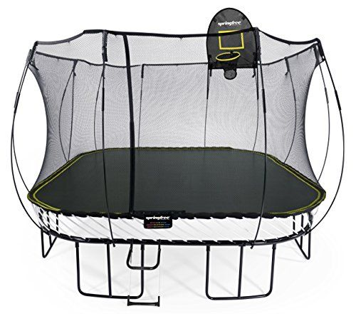 Springfree Tr&oline - 13ft Jumbo Square With Basketball Hoop u0026 Ladder. Rating 4.5/5  sc 1 st  Pinterest : trampoline with tent enclosure - memphite.com