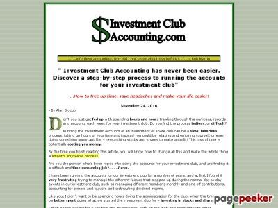 Investment Club Accounting . Com - Easy Accounting For Investment Clubs