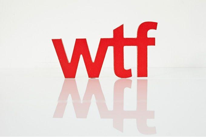 wooden words - wtf by Bokke & Blomme