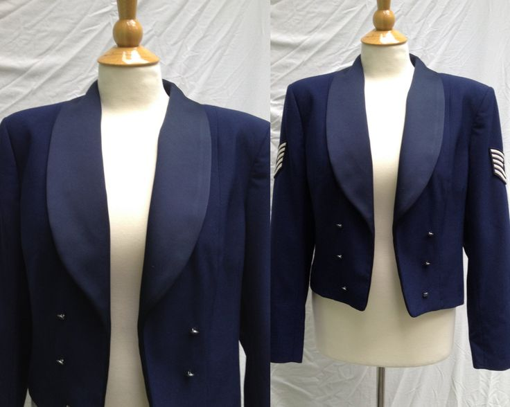 1990s Official Air Force Cropped Mess Dress Jacket, Patriot styled by Weintraub Brothers, Co. by HiddenTreasureHunter on Etsy