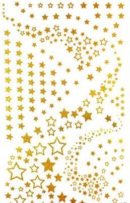 2 Teile / los 10 * 17,5 cm Frauen Bein Hand Körper Arm Kette Stern DIY Gold Tattoo Aufkleber …