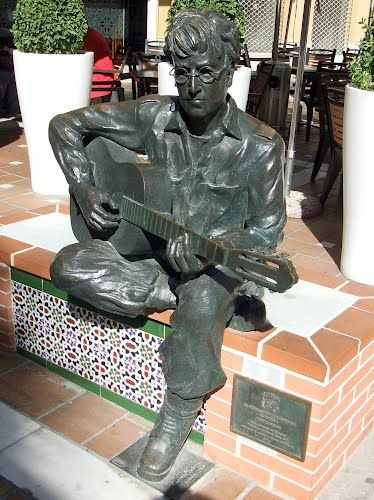 "Almería - statue of John Lennon. The reason for the statue is because John Lennon wrote Strawberry Fields Forever in this southeastern city of Spain. He got inspiration for the song in 1966, during the six weeks he spent filming ""How I won the war"". (photo: Robert Bovington)"