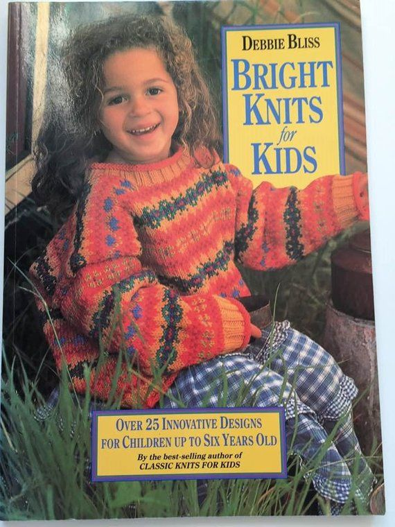 Knitting Pattern Book Debbie Bliss Vintage From 1996 Bright Knits