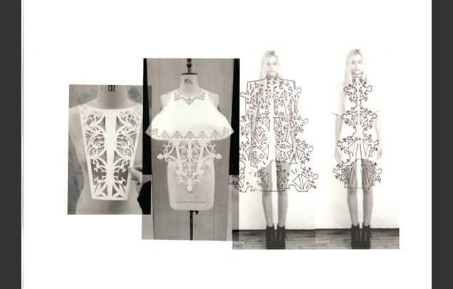 Fashion Sketchbook - laser cut fashion design development; fashion portfolio // Amy Davidson