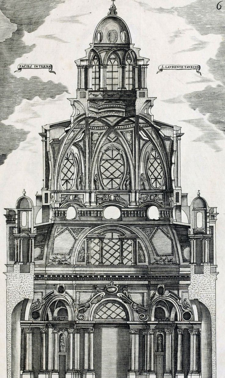 Guarino Guarini - Dissegni d'architettvra civile et ecclesiastica (1686). Engraving by Antonio Verga.
