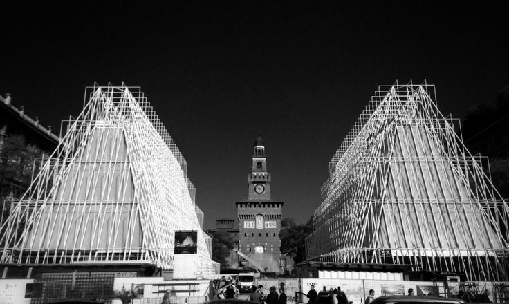 EXPO 2015 MILANO preview of structures at Cairoli Castello #expo2015