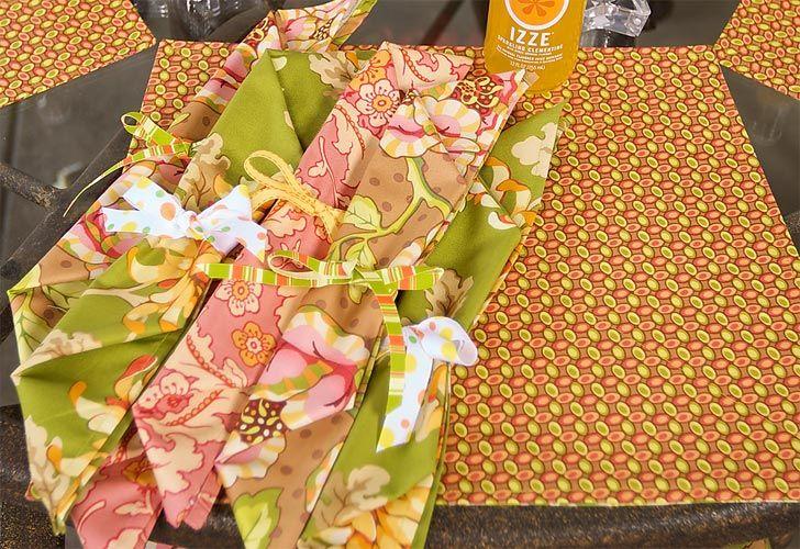 Patio Party: Flirty Floral Napkins