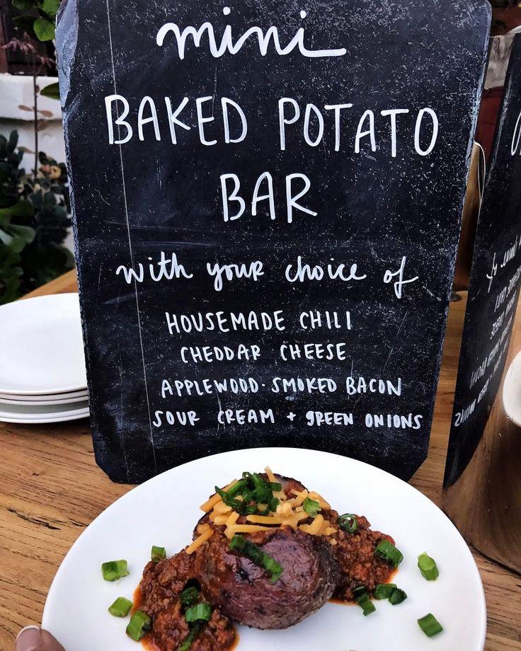 Mini Baked Potato Bar