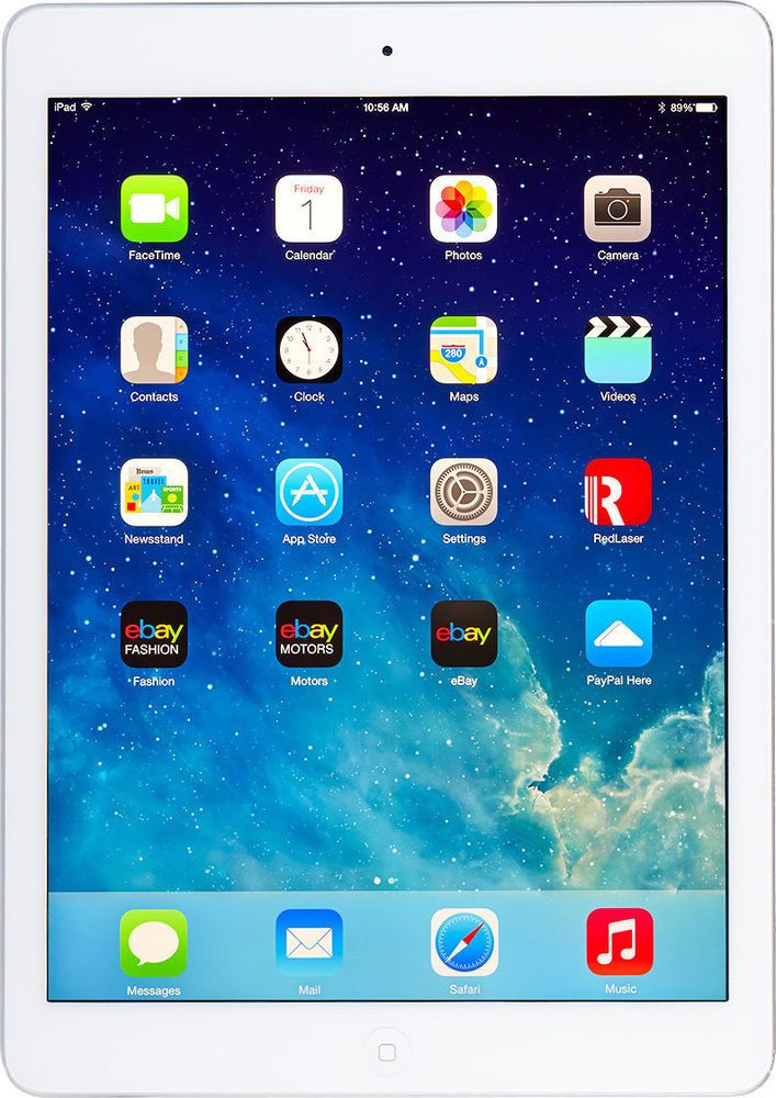 Apple iPad Air 1st Generation 64GB, WI-FI 9.7in - Silver IN MINT CONDITION #Apple