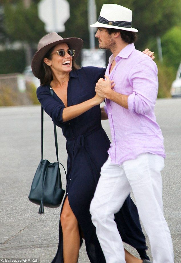 As in love as ever: Nikki and Ian celebrated their first wedding anniversary back in April but look to still be in the honeymoon phase