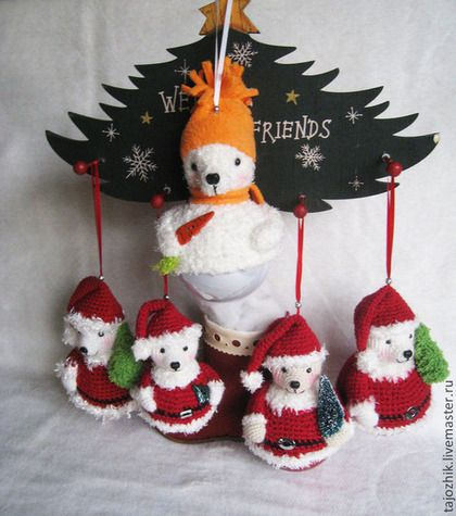 Ёлочные игрушки-мишки - Новый Год,новогодний подарок,новогодние игрушки