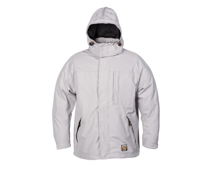 The Timberland Pro 115 Packable Rain Jacket is an ultra lightweight, waterproof and windproof and breathable packable rain jacket. This makes it the ideal jacket for wet and windy conditions. Features semi elasticated/velcro fastened cuffs and drawcords at the bottom hem. The hood is integrated into the collar with a zip closure for storage, and the front zip is covered by an easy open, snap-button flap which provides added protection against water.