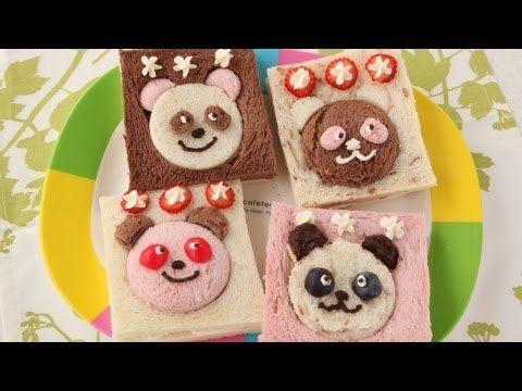 ▶ Fruity Panda Sandwich Recipe パンダのフルーツサンドイッチレシピレシピ【簡単かわいいキャラ弁の作り方】 - YouTube