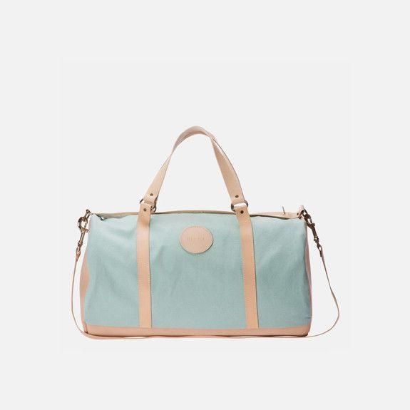 Ilundi - Linen and Leather Duffel Bag