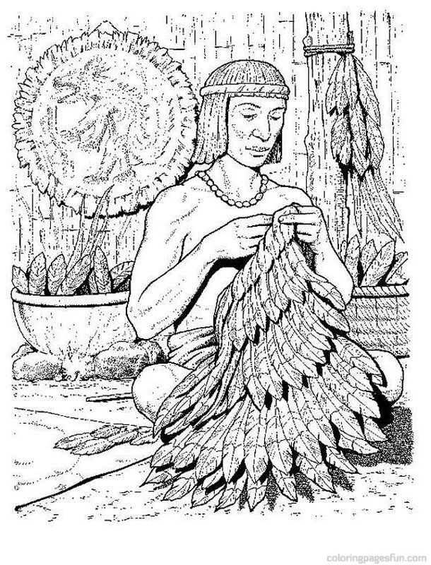 Aztech Coloring Pages 6