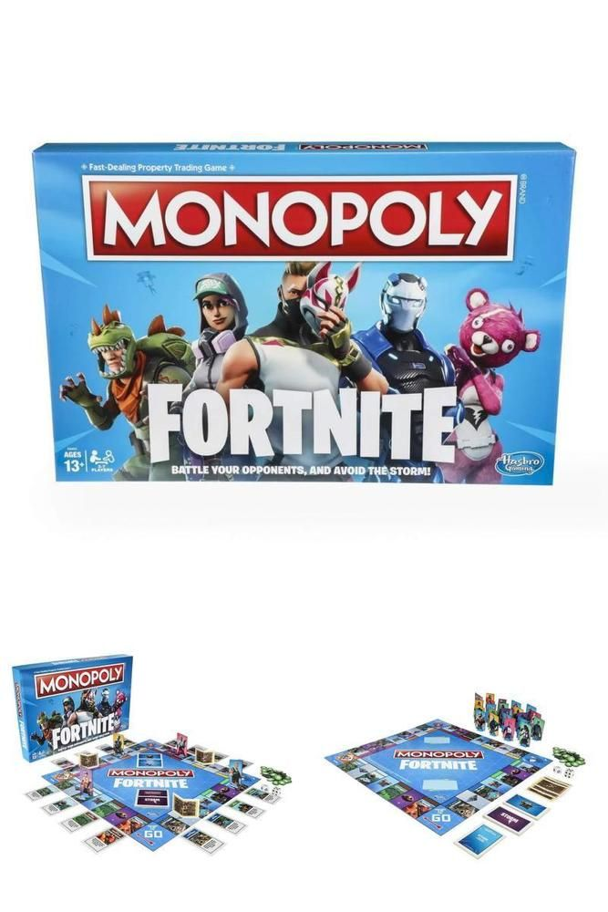 Monopoly Board Game Inspired By Fortnite Video Game Ages 13 And Up