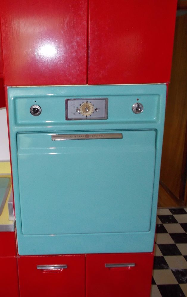 Vintage General Electric Ge Wall Oven 1950 S Wall Oven Retro Appliances Easy Off Oven Cleaner