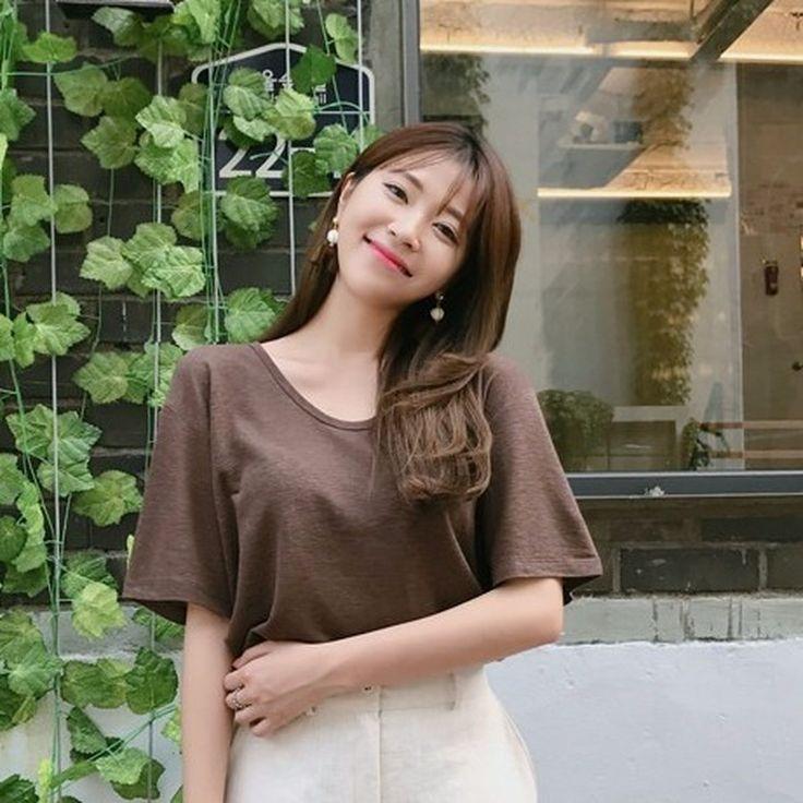 ♡Uネックリネンブレンド半袖Tシャツ♡ #レディースファッション #ファッション通販 #ファッショントレンド #新作 #最新 #モテ服 #韓国ファッション #韓国レディース通販 #ootd #wiw  #fashionaddict #womensfashion #fashion  https://goo.gl/sJhPWT