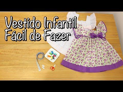 Como Fazer Vestido Infantil - YouTube