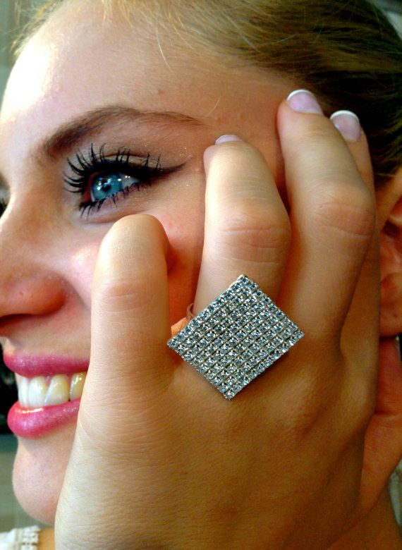 Swarovski Ring Silver OR Gold Plated Suitable for All by ClarityGR, €45.00