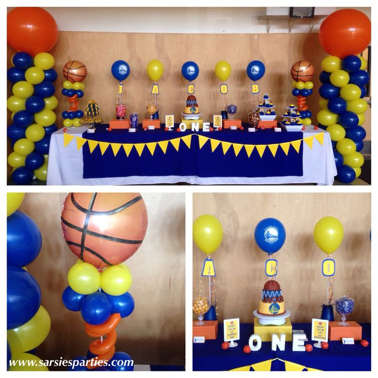 Warriors/basketball themed party