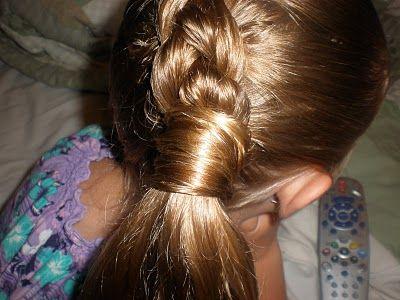 Girl Hairdos & Ideas: hair wrapped around pony