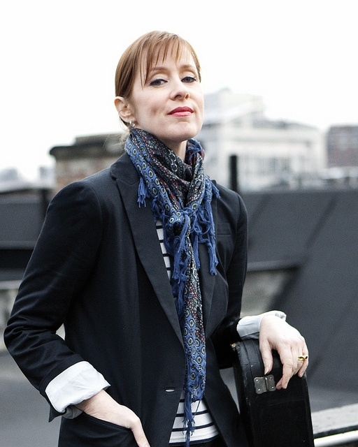 Suzanne Vega. She always wears black, black, black - black is for secrets.