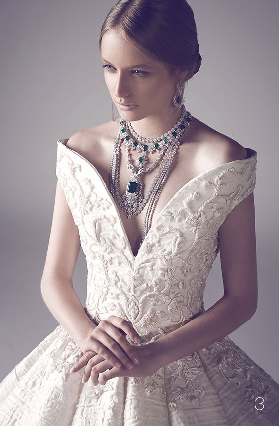 -Mohammed Ashi's Fall 2014 Couture Bridal Gowns - Detail.<3 jaglady.