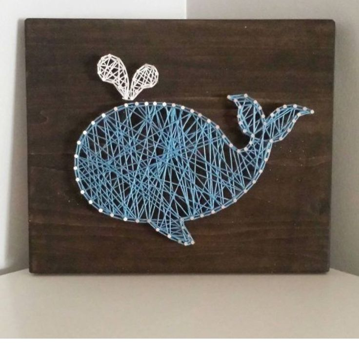 Whale String Art by HelloSunshineHomeDec on Etsyu2026